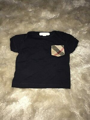 Navy Baby Burberry Top Age 6 Months