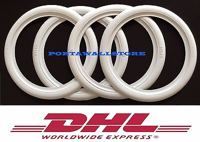 Motorcycle 8'' inch White Wall Portawall tyre port a wall insert trim set of 4x