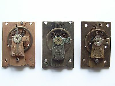 Three French clock platform escapements for parts or repair