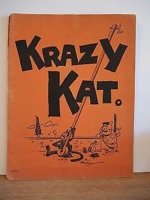 Krazy Kat - A Jazz Pantomime for Piano Sheet Music - 1922 Rare First Print
