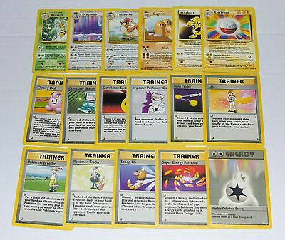 COMPLETE ORIGINAL 1ST BASE SET RARES - No Charizard Holos