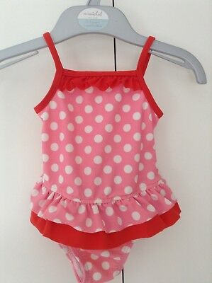 baby girls Pink And Red Spotty swimming costume size 3-6 months Skirt.