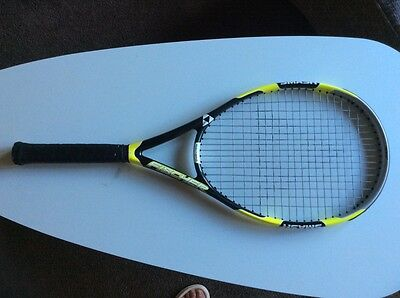 Fischer smash tennis racquet –yellow and black
