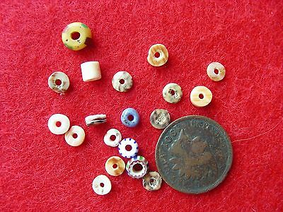 SOUTHWEST SHELL and TRADE BEADS  Native American Indian Artifacts