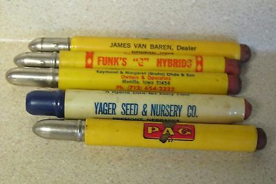 Lot Of 5 Seed Company Bullet Pencils Pfister Hybrids-Funk's-Gruhn-Yager-Pag!