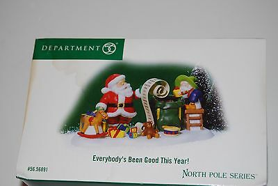 Dept 56 North Pole Series Everybody's Been Good This Year! 56.56891 EUC!