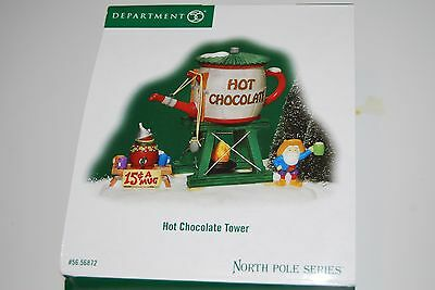 Dept 56 North Pole Series Hot Chocolate Tower NEW!