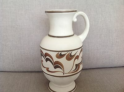 Vintage E. Radford Pottery - HJWoods- Vase or jug decorate with stylised leaves