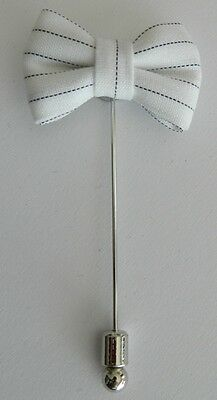Silver Stemmed Lapel Pin - Bow