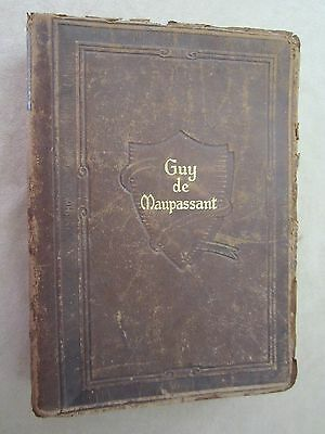 The Works Of Guy De Maupassant-Ten Volumes In One-1903 Leather Bound