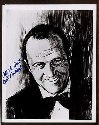 BOB NEWHART Great Dead Pan STAND-UP COMIC TV Star SIGNED Artwork PHOTO