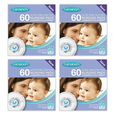 Lansinoh Disposable Nursing Absorbent Incontinence Pads (4 x 60 Piece pack) 240