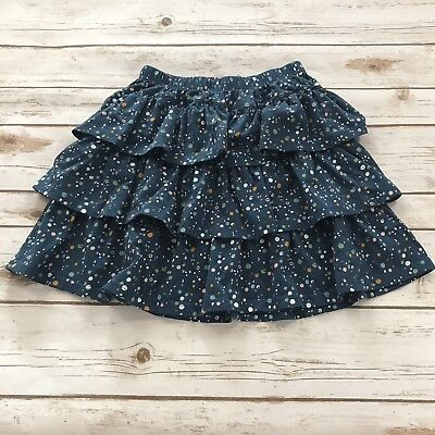 Girls HANNA ANDERSSON Blue Multi-Color Dotted Skirt Size 140 (US 10) K72