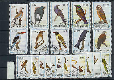 VÖGEL 1983 Sao Tome 879-900 used/o