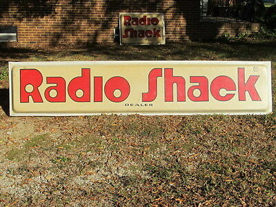 """Radio Shack Dealer""   Sign   (Plastic Face Only) 117 X 24 X 3"