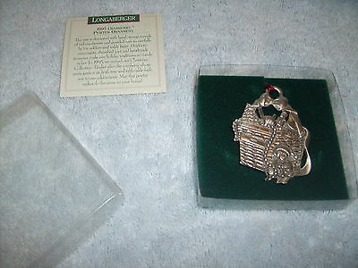 NIB LONGABERGER 1995 PEWTER CRANBERRY CHRISTMAS ORNAMENT new