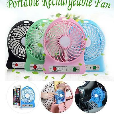 Portable Rechargeable Desk Pocket Mini Fan Handheld Travel Blower Air Cooler MO