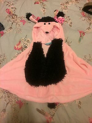 Girls Dog Character Poncho Top Size 18-36mths BNWOT