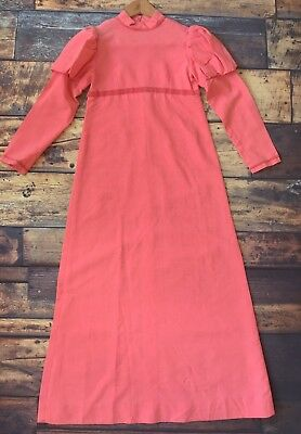 2 X Vintage Children's Pink Dress With Under slip Bridesmaid Dress Fancy Dress