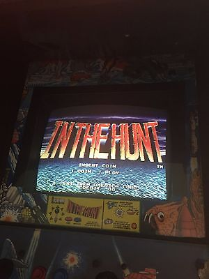 Original 1993 Irem IN THE HUNT Arcade KIT PCB tested working Marquee and Bezel