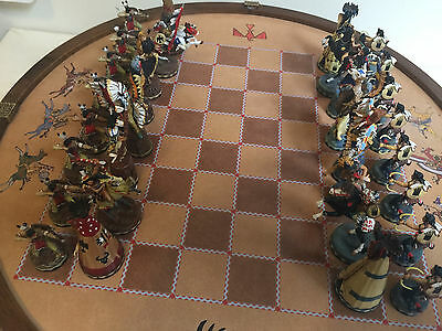 RARE Native American Indian Chess Set - Crow vs Sioux - by R. F. Murphy