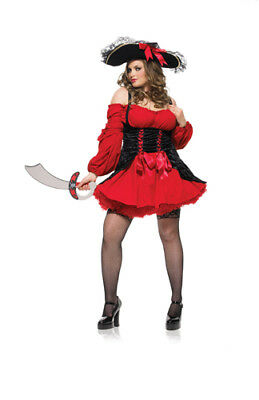 95bb53a57bfae WOMENS PLUS SIZE Sexy Vixen Pirate Wench Dress Roleplay Costume ...