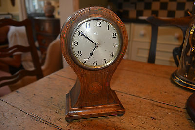 oak cased balloon clock platform movement