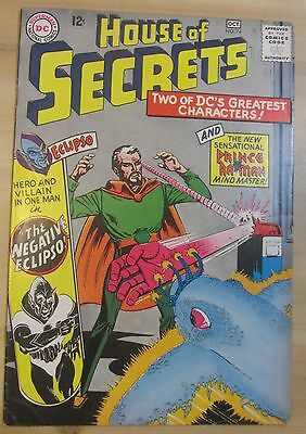 House of Secrets #74 (Sep-Oct 1965, DC) GD 2.0 Negative Eclipso...Free Shipping!