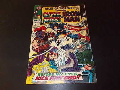 Tales of Suspense 92 VG/FN Silver Age Iron Man Captain America Nick Fury 1967