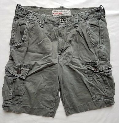 AMERICAN EAGLE Men's Classic Length Gray Cargo Shorts Size 34 Grey