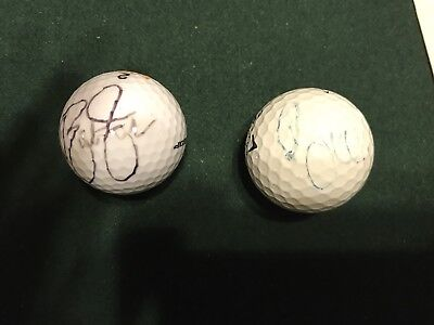 Rory McILroy & Rickie Fowler Autographed Golf Balls FADED