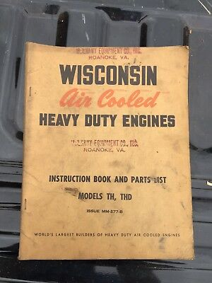 Wisconsin Engine Parts And Operations Book