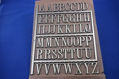 """Gold 3D Letters Self Adhesive 12.5 Mm (1/2"""") High Black Edging"""