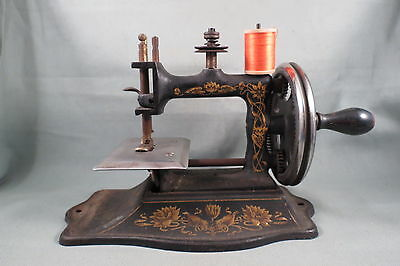 Antique Muller Model 16 Toy Sewing Machine,TSM For Child's Miniature Treadle