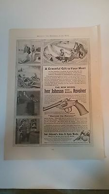 Vintage full page Iver Johnson revolver advertisement 1910s/20s