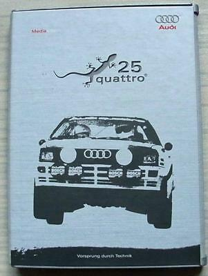 25 YEARS OF AUDI QUATTRO Car Press Information Media Kit Pack CD Feb 2005