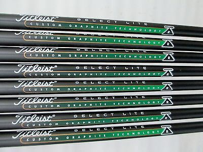 "12 Titleist Select Lite Graphite Iron Shafts R Flex 35.5"" Prepared .355 Tip ~74G"