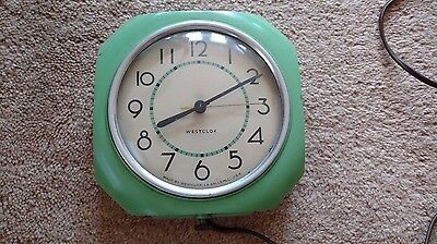 Deco Kitchen Clock Westclox Works Great