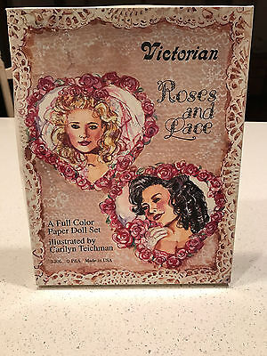 Vintage Victorian Roses and Lace Paper Doll Box Set - Uncut, Unused