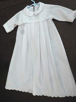 Alexis White Long Sleeve Christening Baptism Dress Gown w/Bonnet, size 6 Months