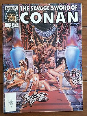 The Savage Sword Of Conan 112, Marvel Comics, May 1985, Fn