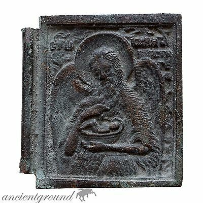 Very Rare 1800 Ad Greek Bronze Christian Icon , Large Size