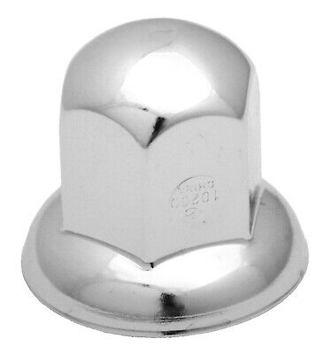 "nut covers(5) 15/16"" standard style flange chrome steel 1-3/8"" tall Peterbilt"
