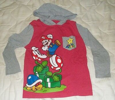 Super Mario Hoodie Sweatshirt Pre-Owned Size Xs Unisex Boys And Girls Vgc