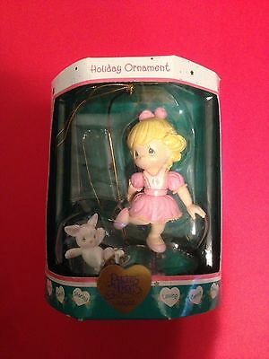 2000 Precious Moment Girl Skater with Rabbit Christmas Ornament-NOM