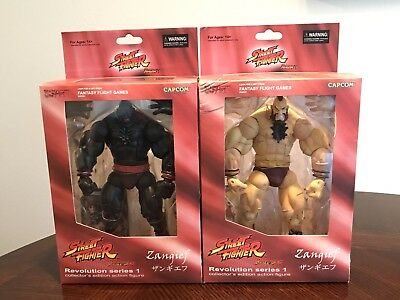 New! SOTA Street Fighter Revolution Series 1 Set- ZANGIEF/MECHA Action Figures!