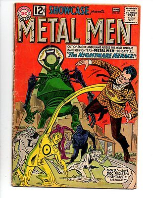 "Showcase #38 //SILVER AGE KEY// ""2ND APP. OF METAL MEN"" OVERSTREET $52"