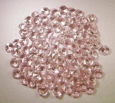 FREE POSTAGE 500 NEW 14mm PINK CHANDELIER OCTAGON CRYSTALS