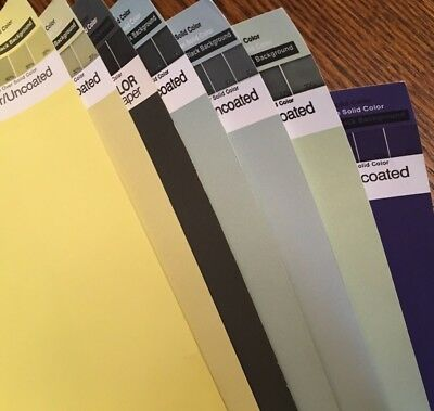 Rare, Vintage Lot of 7 ca. 1970's  Pantone Posters / Paper by Letraset,  20x26