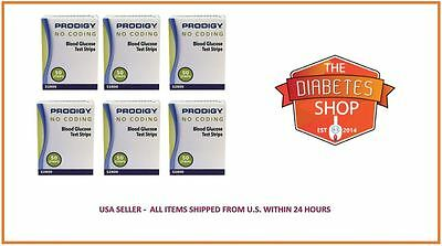 300 Prodigy No Coding Blood Glucose Test Strips Exp:12/2018+Free S&h